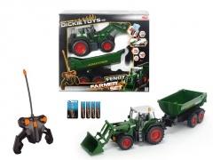Dickie RC Traktor se lžící a vozíkem, 60 cm, 3 kan