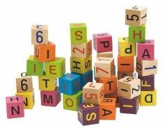 Woody Barevné kostky s písmeny a čísly