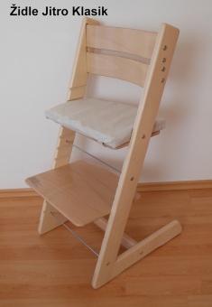 Dětská rostoucí židle JITRO Klasik přírodní