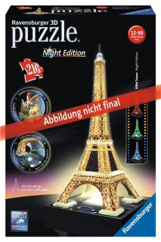 Ravensburger Eiffelova věž - Noční edice 3D 216 dílků