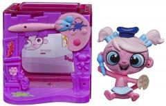 Hasbro Littlest Pet Shop zvířátko s mini domečkem