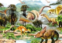 Dino Puzzle Život dinosaurů 100DXL