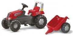 Šlapací traktor Rolly Junior s vlečkou červený akční