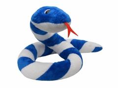 Plyšový had Suk modro - bílý 250cm