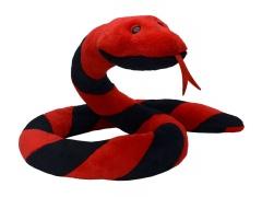 Plyšový had Suk červeno - černý 250cm