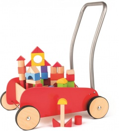Kovový vozík s kostkami