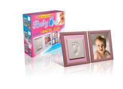 BABY OTISK - rámeček růžový